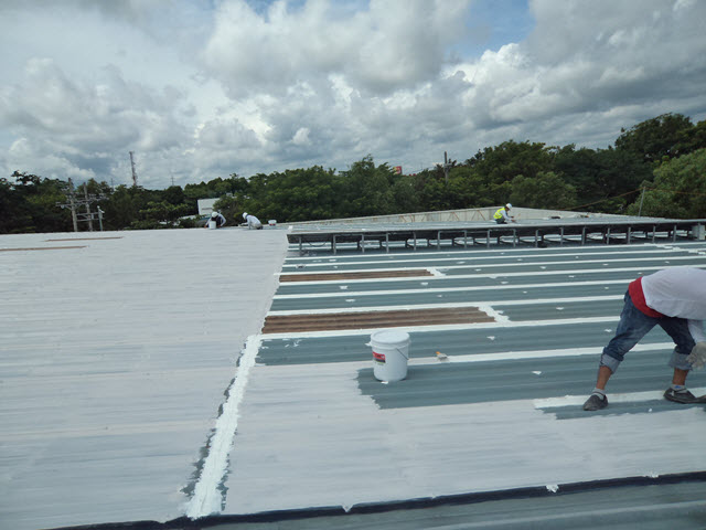 roof waterproofing, waterproofing, polyurea, repainting, reflective coating,