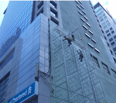 wall waterproofing, waterproofing, polyurea, repainting, reflective coating,